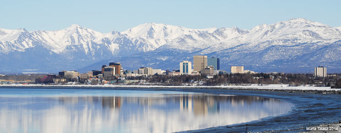 Anchorage as seen from Earthquake Park - Maria Talasz